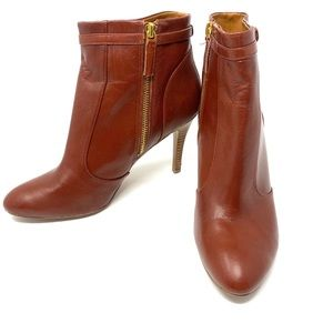 Brown bootie boots